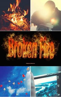 Couverture de Broken fire par Delecroix Stephanie
