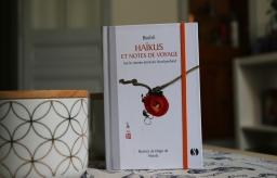 Couverture de Haïkus et Notes de voyage : Sur le chemin étroit du Nord profond par Bashô, illus. Manda