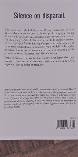 Couverture de SILENCE ON DISPARAIT par LAURENT BOUCHÉ