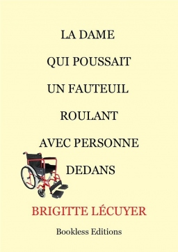 Couverture de La dame qui poussait un fauteuil roulant avec personne dedans par Brigitte Lécuyer