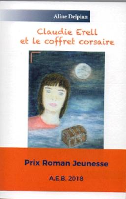 Couverture de Claudie Erell et le coffret corsaire (Tome 1) par Aline Delpian
